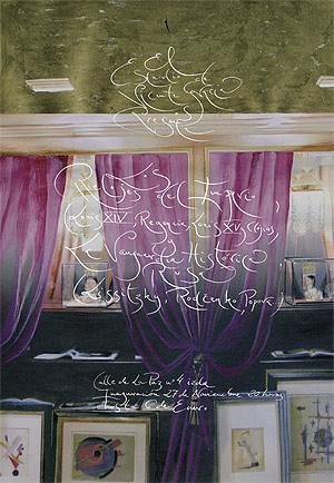 Invitación para la exposición de Vicente Gracia.