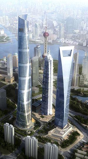 Recreación de lo que será el distrito financiero de Shanghai en el año 2014. (Foto: EFE)