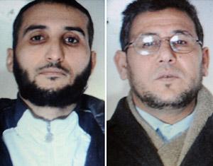 Los supuestos terroristas Rachid Ilhami y Abdelkader Ghafir. (Foto: AFP)