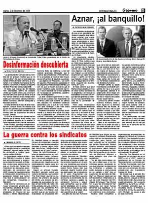 Página de 'Granma' de la edición del martes.