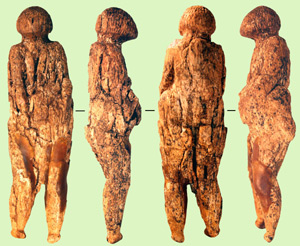 Figura de mujer fabricada hace entre 16.000 y 20.000 años. (Foto: Hizri Amirjanov)