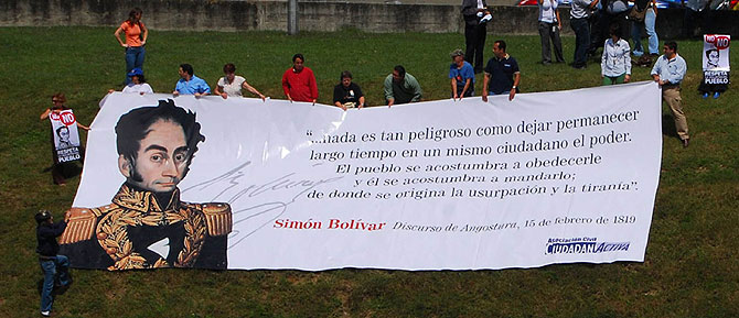 Pancarta de Ciudadanía Activa. (Foto: C.A.)
