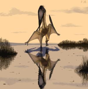 Recreación artística del reptil volador cuyo fósil se ha hallado en Brasil. (Foto: Mark Witton)