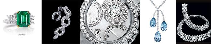 Imágenes de las espectaculares joyas que se venden en la tienda de lujo de Harry Winston, en París.