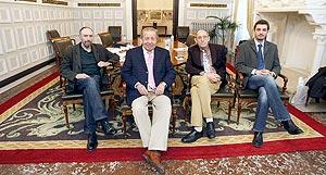 Eduardo Fraile, Carlos Frühbeck de Burgos, Antonio Piedra y Carlos Martín, de izquierda a derecha. Foto: RAÚL OCHOA