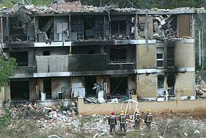 Estado en el que quedó el edificio tras la explosión. (Foto: A. Moreno)
