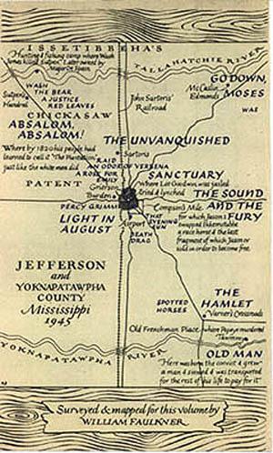Mapa del condado de Yoknapatawpha