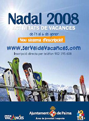 Imagen de la promoción de ski del Ayuntamiento de Palma.