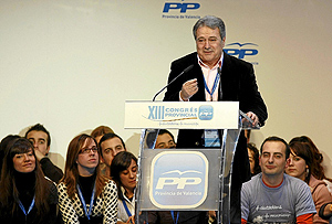 Alfonso Rus durante su intervención en el Congreso Provincial. (Foto: Benito Pajares)
