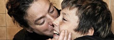 María Saliente y su hijo. (Foto: Aurora Cañada)