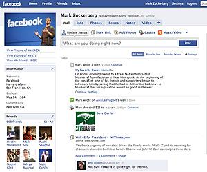 Aspecto de Facebook tras su rediseño. (Foto: Facebook)