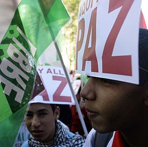 Una manifestación en Madrid a favor de la autodeterminación del Sahara. (Foto: REUTERS)