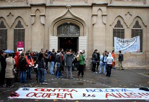 Día en el que los estudiantes de LLeida inicaron el encierro (Foto: EFE)
