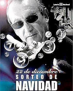 Fotomontaje con Fabra en el cartel del Sorteo.