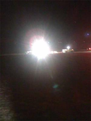 Imagen del accidente publicada por Wilson desde su teléfono. (Foto: M. W.)