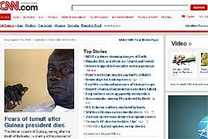 Pantallazo de la web de CNN