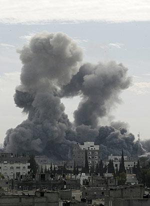 La ciudad de Gaza, tras los ataques. (Foto: AFP)
