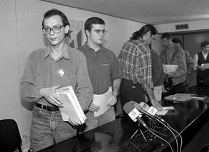 Guillem Godó y Uriel Bertran, en una fotografía del 20 de mayo de 1998. (Foto: Quique García)