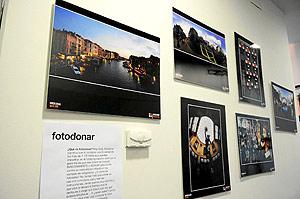 Algunas de las fotos que pueden verse en el Espacio Joven dentro de la campaña de fotodonaciones. (Foto: JONATHAN GONZÁLEZ)