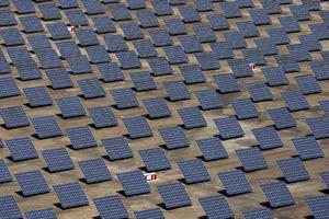Algunos de los paneles de la planta de energía fotovoltaica en Amareleja. (Foto: Acciona)