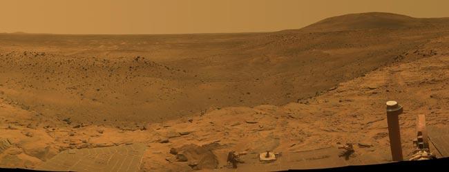 Vista panorámica de la suoperficie de Marte captada por el robot 'Spirit'. (Foto: NASA)