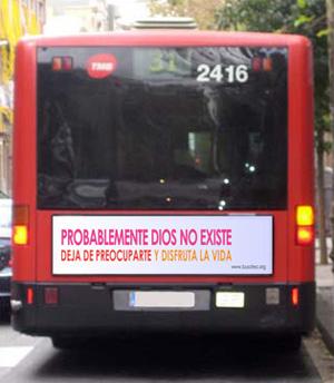 Montaje de cómo se plasmará el mensaje en los autobuses. (Foto: busateo.org)