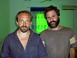 El británico Colin Freeman y el español José Cendón. (Foto: AFP)