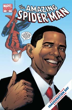 Barack Obama coprotagoniza una aventura de Spiderman en una edición especial elaborada por Marvel Comics para la toma de posesión del presidente electo. (Foto: AP)
