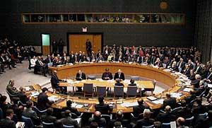 El Consejo de Seguridad de la ONU, reunido para votar la resolución. (Foto: AP)