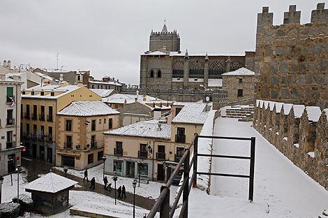 Aspecto de Ávila desde las murallas. (Foto: RICARDO MUÑOZ)