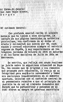 Una de las cartas de Juan de Borbón al general.