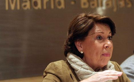 La ministra, durante su intervención. (Foto: Kike Para)