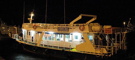 Llegada del barco al puerto de Larnaca. (Foto: M.G.P)