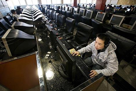 Imagen de un cibercafé de Pekín. (Foto: EFE)