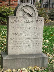 Tumba de Poe en Baltimore. (Wikipedia)