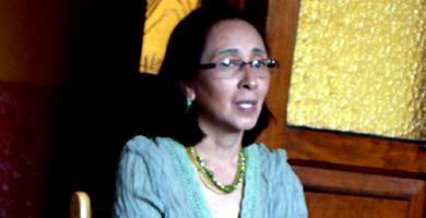 Norma Cruz durante el rodaje de 'Un cambio en la mirada. (Foto: FIIAPP)