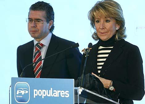 Aguirre y Granados, en un acto del PP. (Foto: EFE)