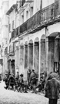 El Casino en 1913, donde se gestó la federación . (Foto: Archivo de Soria)