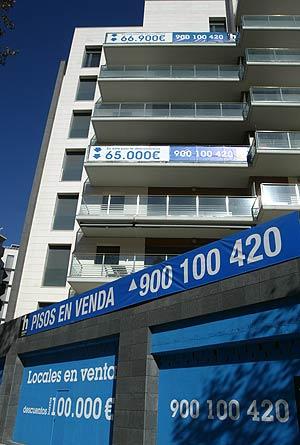 Un edificio con pisos en venta (FOTO: Quique García)