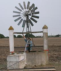 Réplica de los molinos que se construirán en el Sáhara.