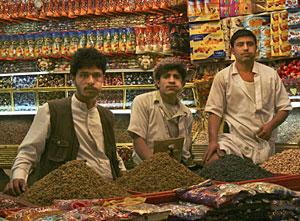 Un mercado yemení en el que se vende qat. (Foto: AP | Paul Schemm)