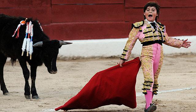 Michelito, durante una de sus faenas en Mérida (México). | AFP
