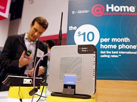 Imagen de un 'router' Linksys de T-Mobile expuesto en el CES 2009. (Foto: AFP)