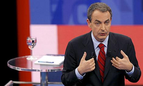 Zapatero, en un momento del programa. | EFE