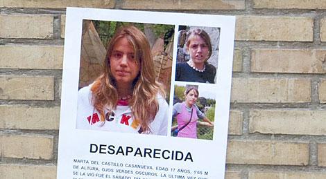 Cartel sobre la desaparición de Marta | EFE