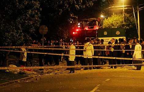 Imagen del lugar afectado por la detonación. | EFE