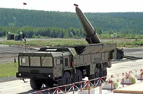 Un misil Iskander como los que Rusia iba a instalar en Kaliningrado. | Foto: AFP
