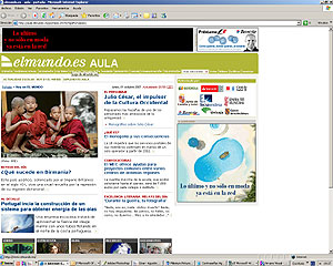 Página web de la sección 'Hoy en EL MUNDO'. (Foto: El Mundo)