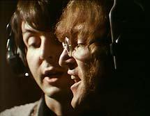 MCartney y Lennon grabando. (Foto: AP)