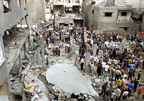 Estado del edificio derribado en Gaza en 2002. | Reuters